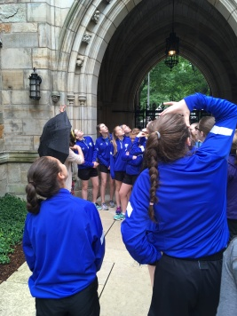 Checking out the buildings at Yale